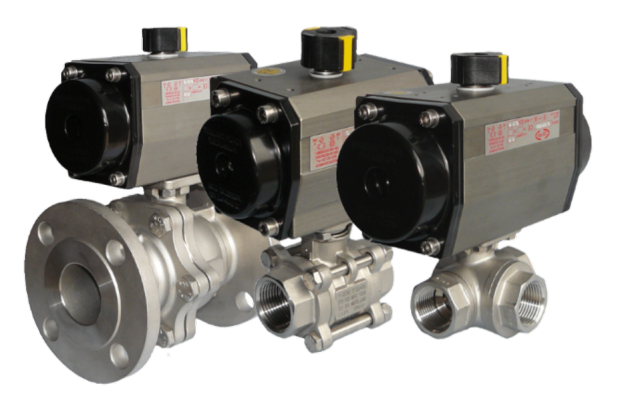 A range of air actuated valves