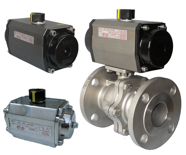 A selection of air actuated valves