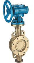 Wafer gear operated butterfly valve Ali-bronze body and disc
