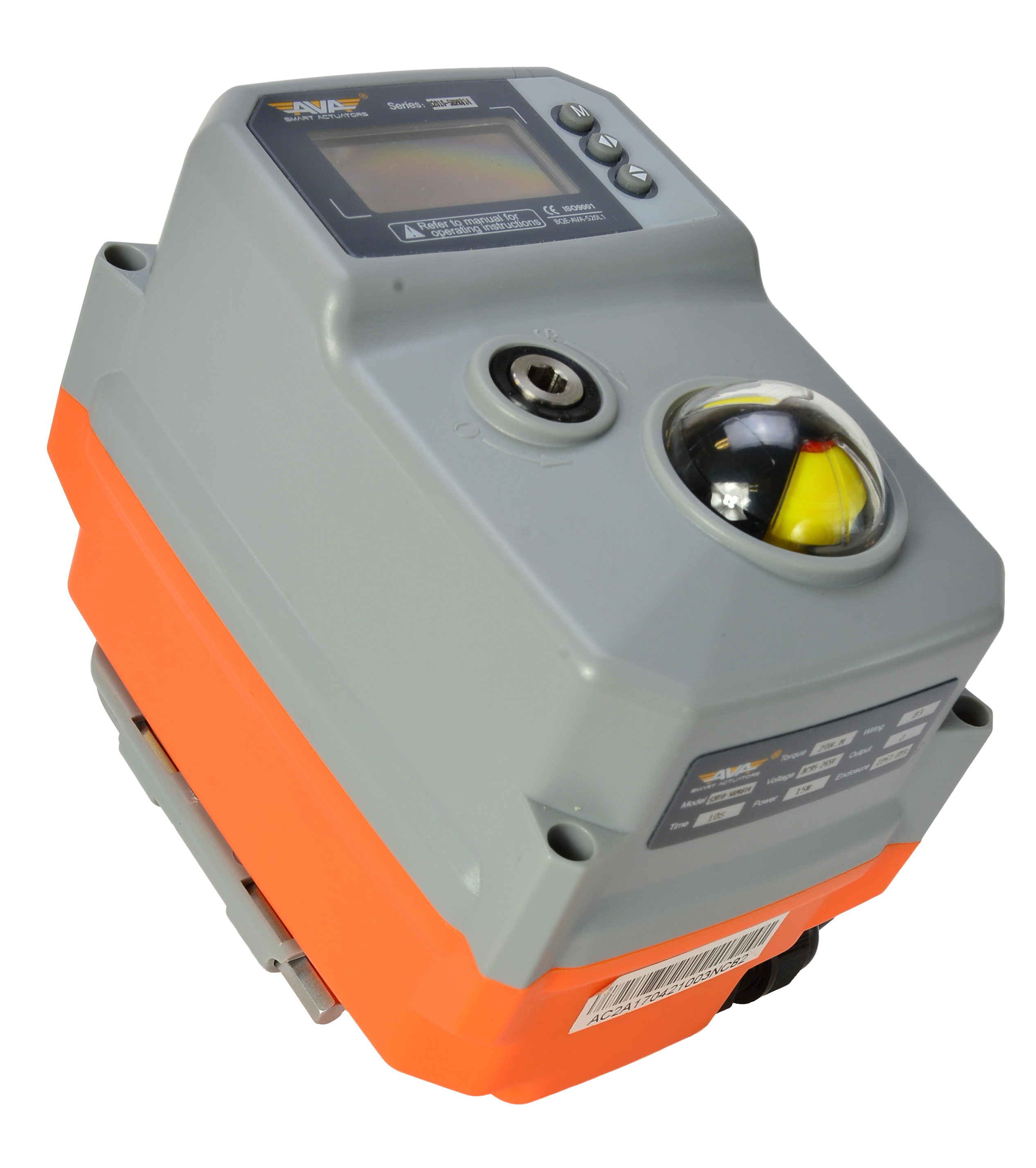AVA Smart Electric Actuator - Compact Actuator with OLED Screen