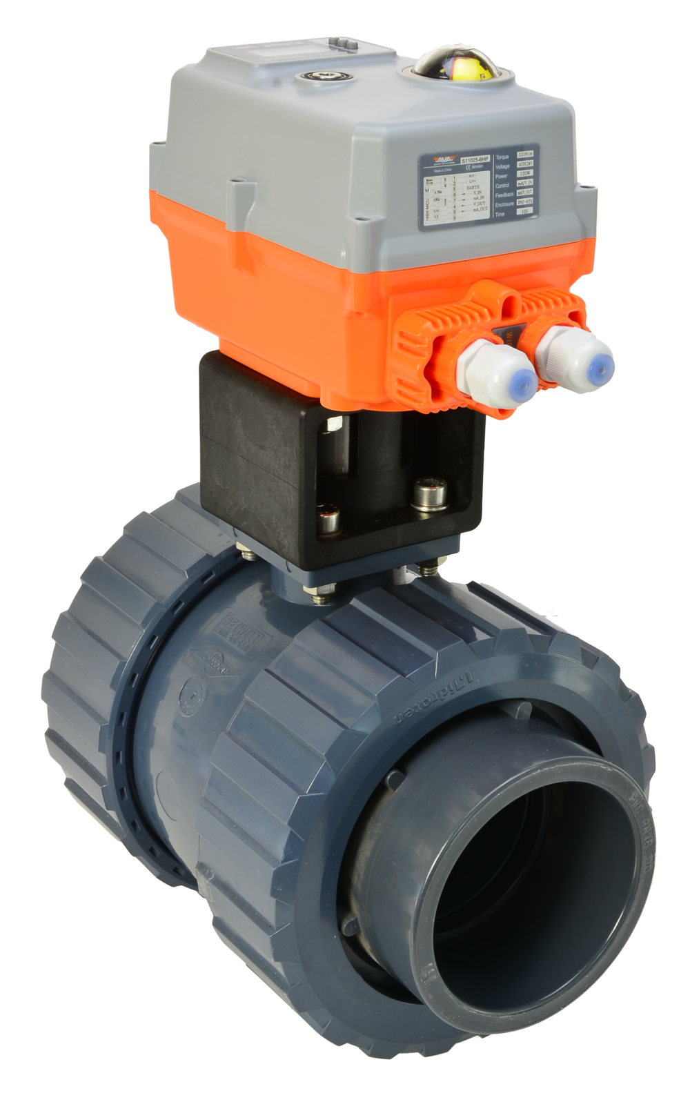 Hidroten Motorised PVC Ball Valve with AVA Electric Actuator from AVS