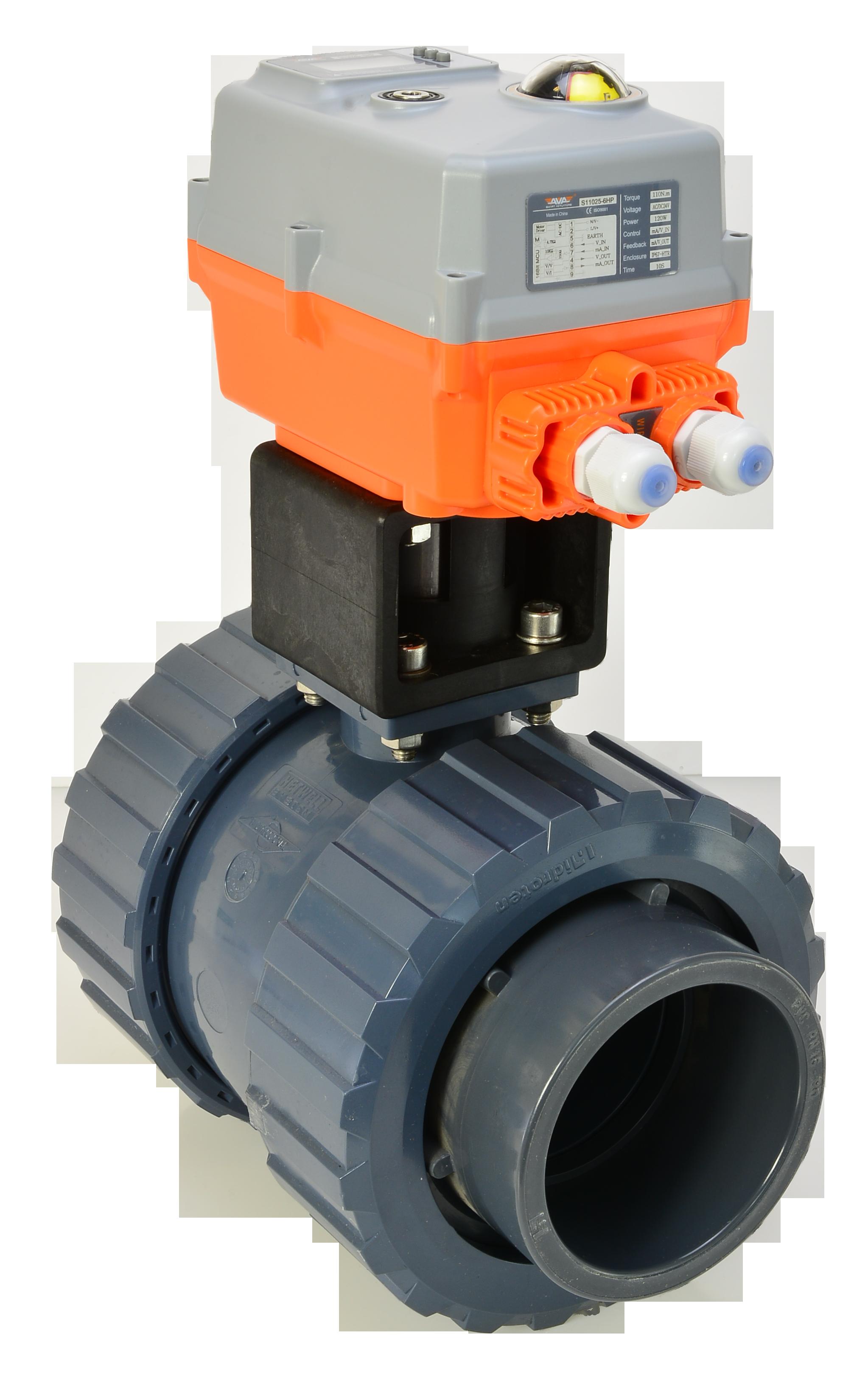 Actuated Valve Motorised Ball Valve Hidroten Pvc Ball