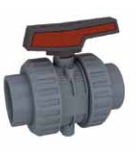 Cepex Extreme 2 way lever PVC manual ball valve Viton