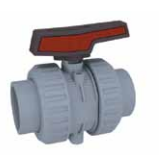 Cepex Extreme 2 way lever ball valve CPVC body EPDM