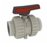 Cepex Extreme 2 way lever ball valve PVDF body viton