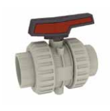 Cepex Extreme 2 way lever ball valve PP body viton