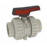 Cepex Extreme 2 way lever ball valve PP body viton