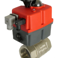 WRAS Approved electric actuated brass ball valve with J+J electrical actuator J3CS from AVS