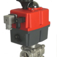M77 Series electric actuated stainless steel ball valve with J+J electrical actuator J3CS from AVS