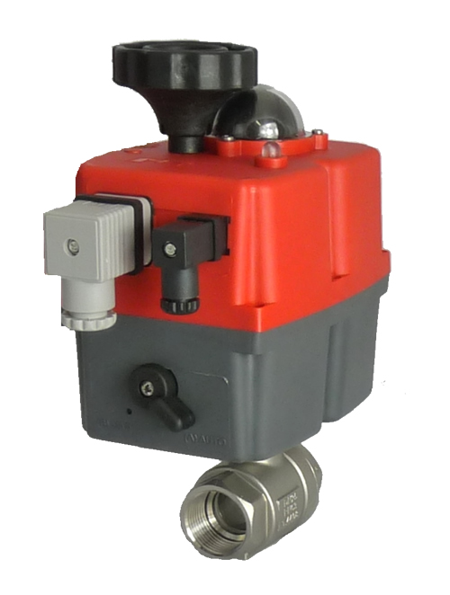 GE Economy Series electric actuated stainless steel ball valve with J+J electrical actuator J3CS from AVS