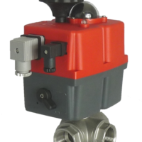 M39 Series electric actuated 3 way stainless steel ball valve with J+J electrical actuator J3CS from AVS