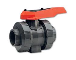 GF546 Full bore 2 way PVC manual ball valve Viton