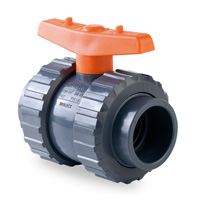 Hidroten economy 2 way lever PVC ball valves Viton