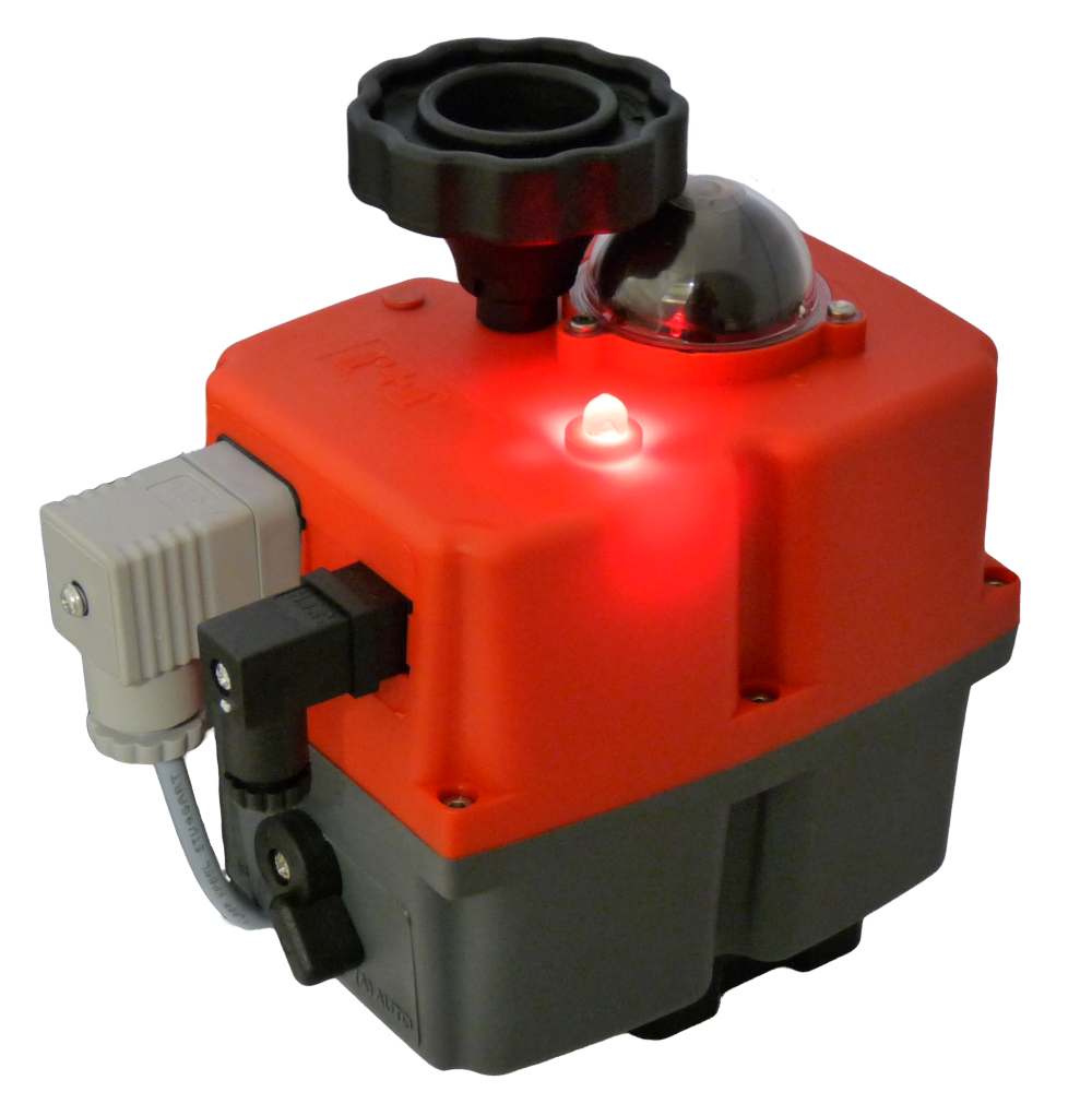 J + J Smart electric actuator - J3C-S - On-Off - LED status light