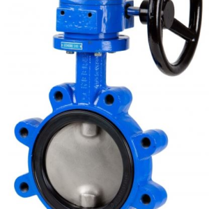 Gear operated lugged butterfly valve with ductile iron body