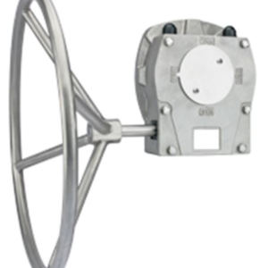 All stainless steel construction hand wheel operated gearbox