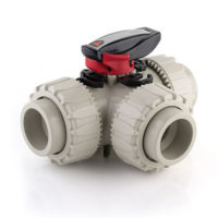 Full Bore FIP TKD 3 Way Polypropylene PP ball valve EPDM