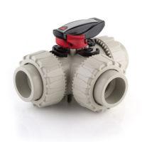 Full Bore FIP TKD 3 way PP ball valve viton