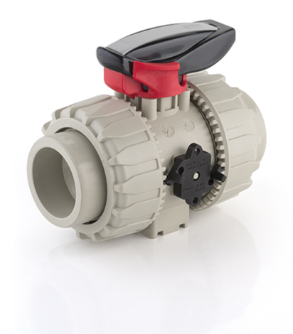 FIP VKD 2 way lever ball valve with PP body EPDM