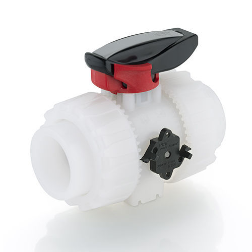 FIP VKD 2 way lever ball valve with PVDF body viton