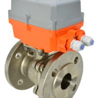 Genebre 2528 Series electric actuated stainless steel ball valve with AVA Basic electrical actuator from AVS