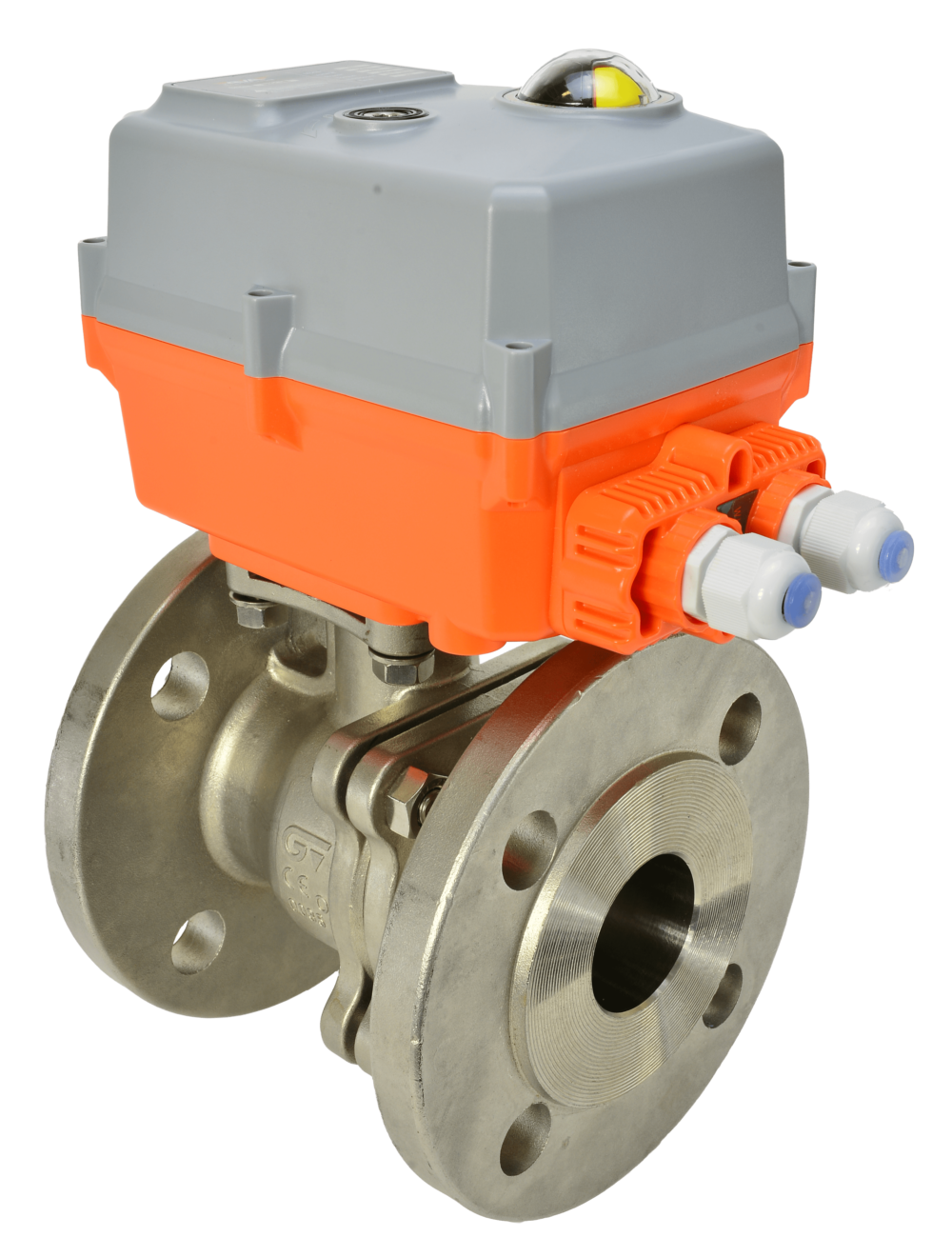 Motorized Class 150 Flanged Stainless Steel Ball Valve with AVA Electric Actuator