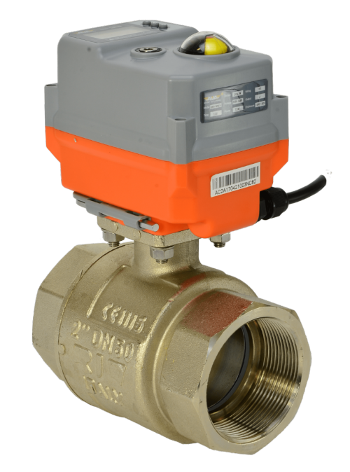 Brass ball valve with Smart AVA actuator