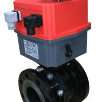Motorized Class 150 Flanged Carbon Steel Ball Valve with J+J Electric Actuator