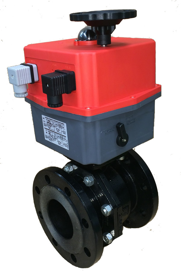 Genebre 2525 Cast iron ball valves with J3CS electric actuator