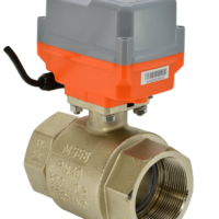 Electric actuated brass ball valve WRAS approved 2 way with AVA compact electrical actuator from AVS