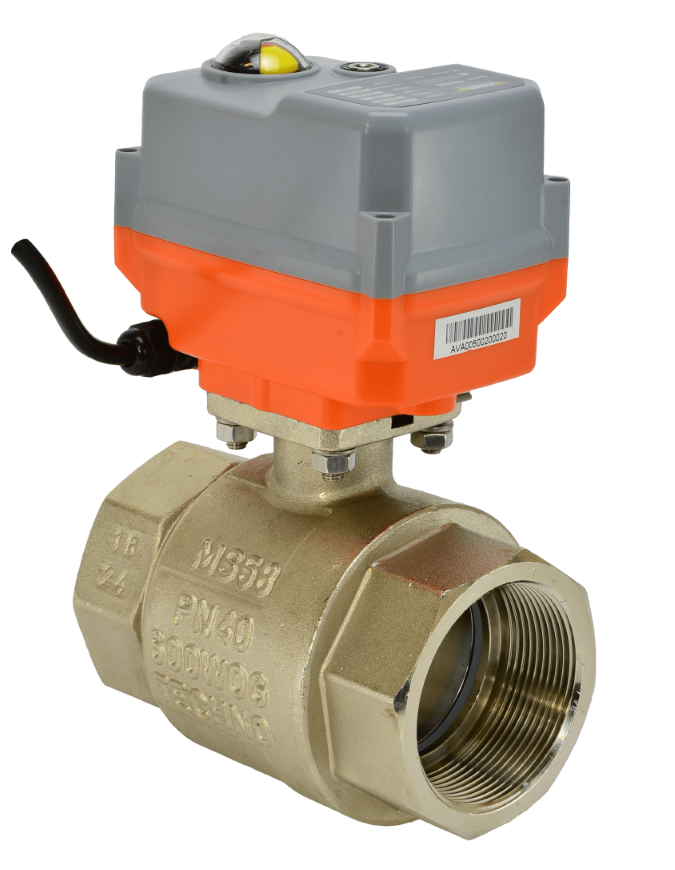Electric WRAS brass ball valve with basic AVA compact actuator