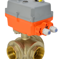 Electric 3 Way Brass Ball Valve with AVA Basic Actuator