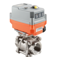 Motorized Stainless Steel Ball Valve with Compact AVA Electric Actuator