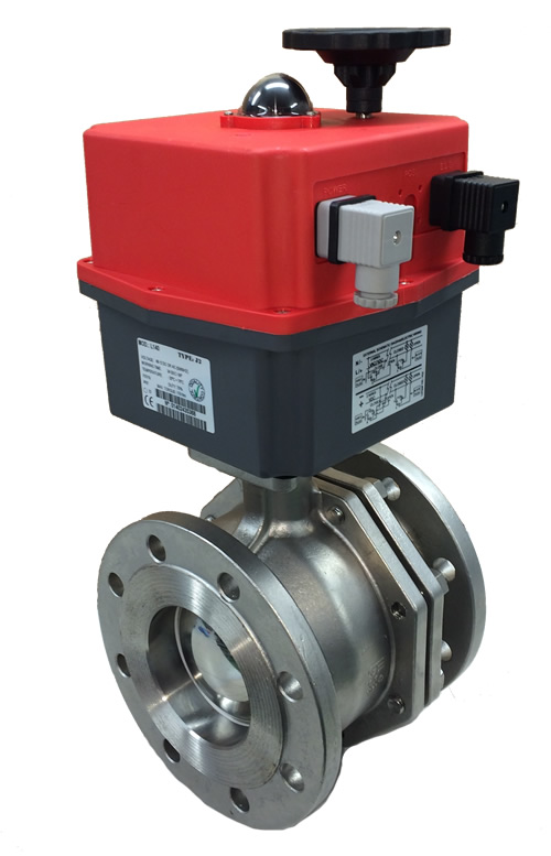 Motorized Flanged Stainless Steel Ball Valve with J+J Electric Actuator