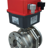 Genebre 2528 Flanged PN16 Stainless steel ball valves with J3CS electric actuator