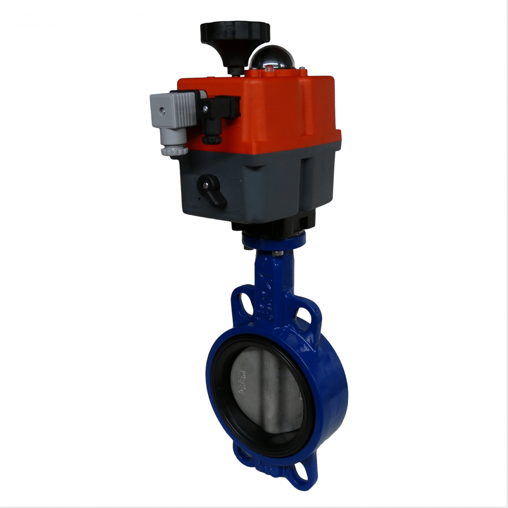 WRAS Approved Electric On-Off Iron Butterfly Valves with J3CS Electric Actuator