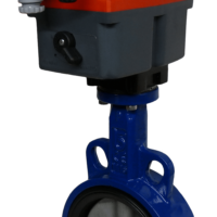 GE2109 Electric On-Off Iron Butterfly Valves with J3CS Electric Actuator