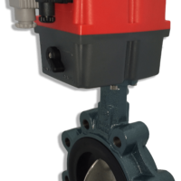 Lugged motorized butterfly valve with J+J electric actuator from AVS