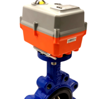 Lugged butterfly valve with AVA Actuator