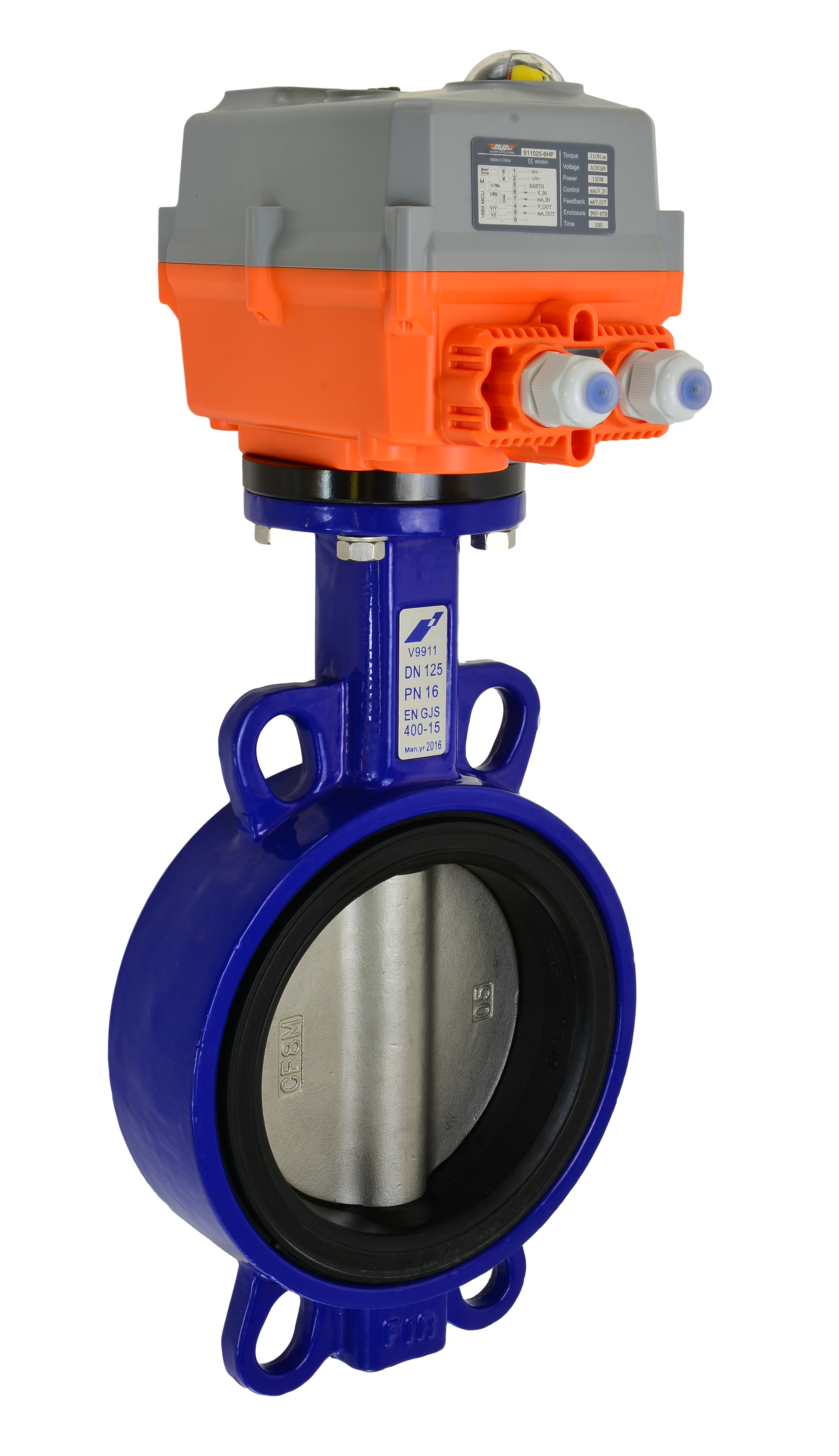 Actuated Valves - Motorized Butterfly Valve - AVA Electric