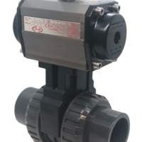 Cepex Extreme PVC Ball Valve with CH-air Pneumatic Actuator