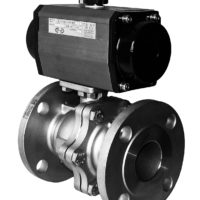 Flanged Carbon Steel Ball Valve with CH-air Pneumatic Actuator