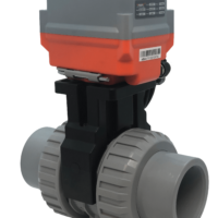 Cepex Extreme Motorised CPVC Ball Valve with AVA Electric Actuator from AVS
