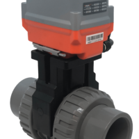 Cepex Extreme Motorised PVC Ball Valve with AVA Electric Actuator from AVS