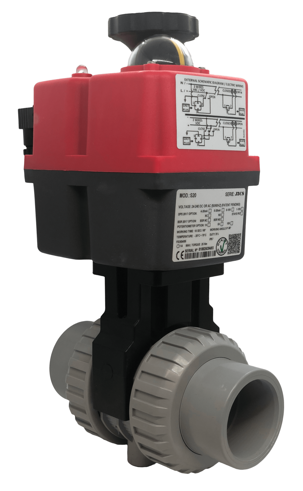 Cepex Extreme Motorized CPVC Ball Valve with J+J Electric Actuator from AVS