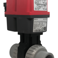 Cepex Extreme Motorised CPVC Ball Valve with J+J Electric Actuator from AVS