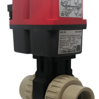 Cepex Extreme Motorized PP-H Ball Valve with J+J Electric Actuator from AVS