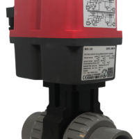 Cepex Extreme Motorized PVC Ball Valve with J+J Electric Actuator from AVS