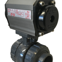 Economy PVC Ball Valve with CH-air Pneumatic Actuator