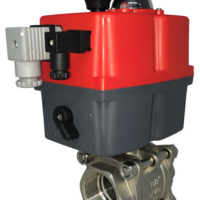 V Control Motorized Stainless Ball Valve with J+J Modulating Actuator